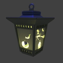 farola haloween.jpg Download STL file Antique lantern for Haloween • 3D print design, javherre