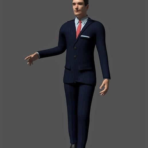 novio elegante suit.jpg Descargar archivo STL Novio para acompañar a tarta de bodas • Diseño imprimible en 3D, javherre
