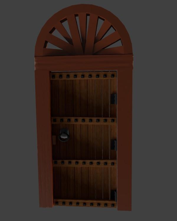 puerta antigua de madera con arco.jpg Descargar archivo STL gratis Puerta de madera antigua con arco • Modelo imprimible en 3D, javherre