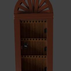 Télécharger objet 3D gratuit Porte ancienne en bois avec arche, javherre