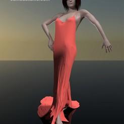 chica flamenca pose 1.jpg Download STL file Flamenco girl - Spanish woman • 3D print model, javherre