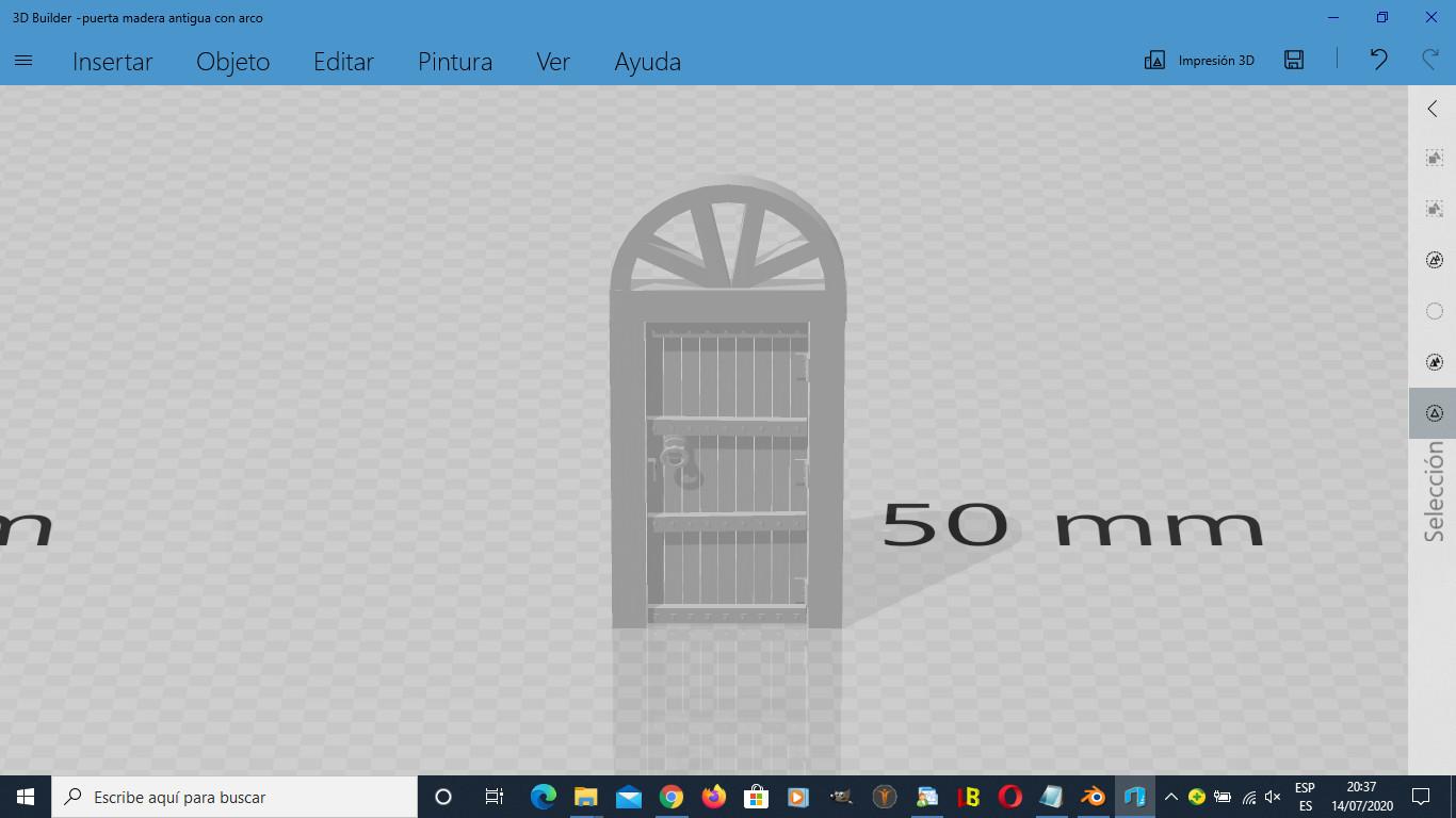 purta madera.jpg Descargar archivo STL gratis Puerta de madera antigua con arco • Modelo imprimible en 3D, javherre