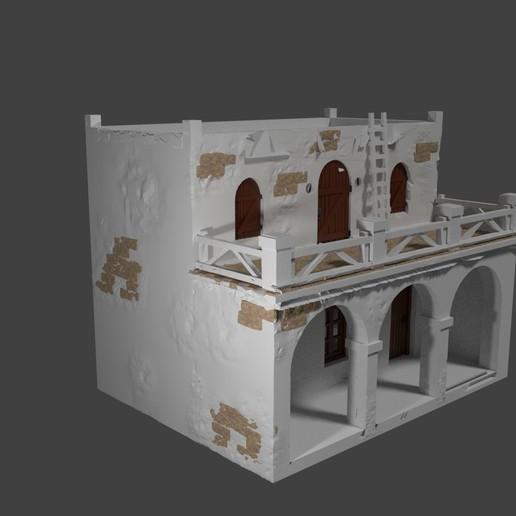 casa 2 render.jpg Descargar archivo STL gratis Casa - Chalet rustica para dioramas Belenes • Modelo para imprimir en 3D, javherre