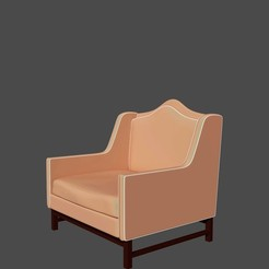 sillon clasico.jpg Download free STL file Classic Dining Chair • 3D printable object, javherre
