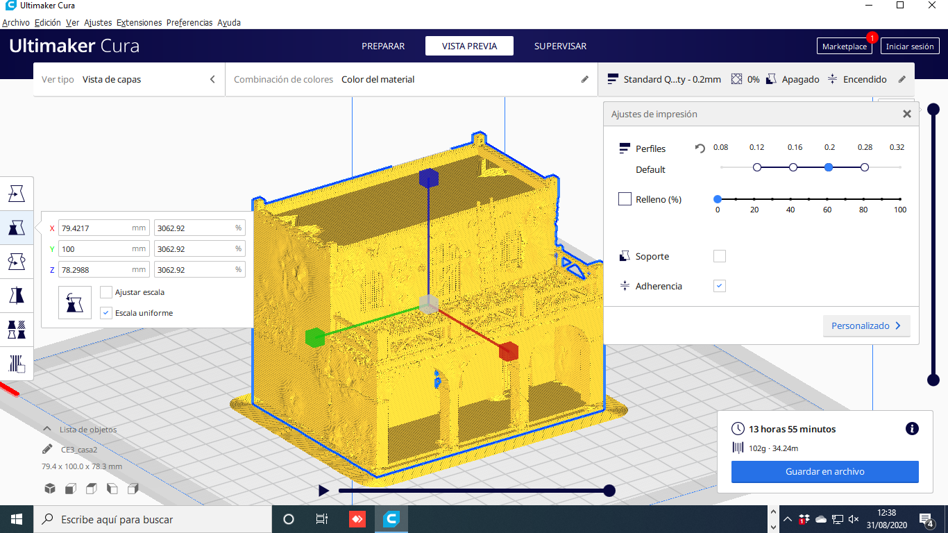 Descargar archivo 3D gratis Casa - Chalet rustica para dioramas Belenes, javherre