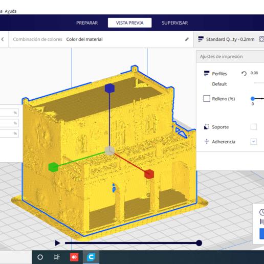 2020-08-31 (1).png Descargar archivo STL gratis Casa - Chalet rustica para dioramas Belenes • Modelo para imprimir en 3D, javherre