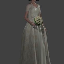 novia anime 60.jpg Télécharger fichier STL La mariée en anime pour accompagner le gâteau de mariage • Design pour imprimante 3D, javherre