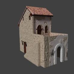 Download STL file Rustic house for dioramas model 3d, javherre