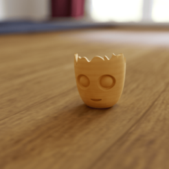 Imprimir en 3D Mini bote de flores para oficina de groot de bebé, falysix