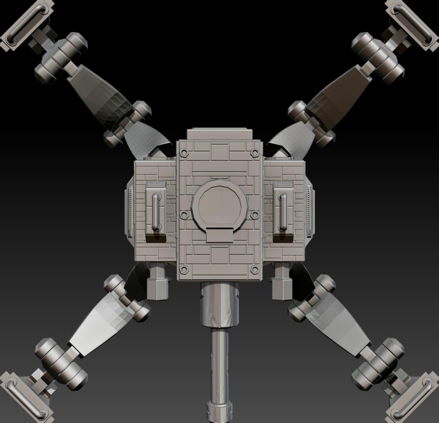 01.png Download free STL file Posable Sci-Fi Tank - MK 01 • Design to 3D print, CarlCreates