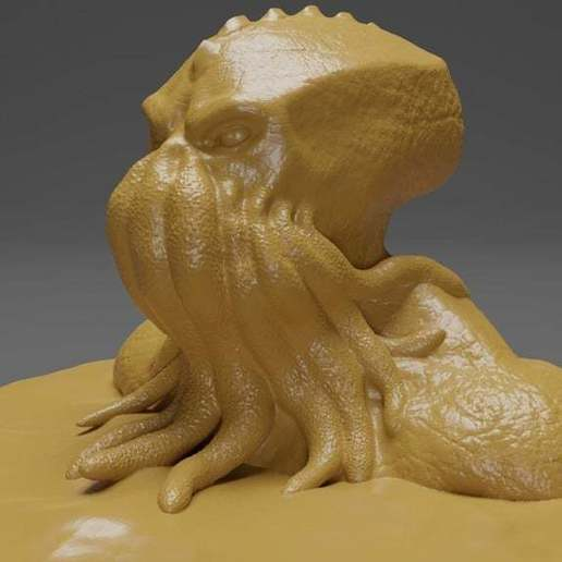 Download free STL files Cthulhu Bust, CarlCreates