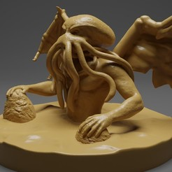 Download free STL file Cthulhu, CarlCreates
