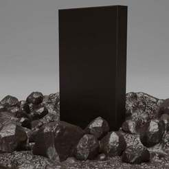 Download free STL 2001 A Space Odyssey - Monolith scene, CarlCreates