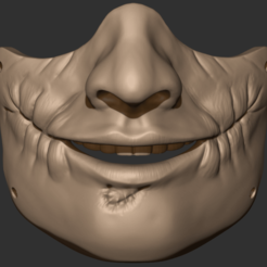 00.png Download OBJ file Joker Mask • 3D print object, CarlCreates
