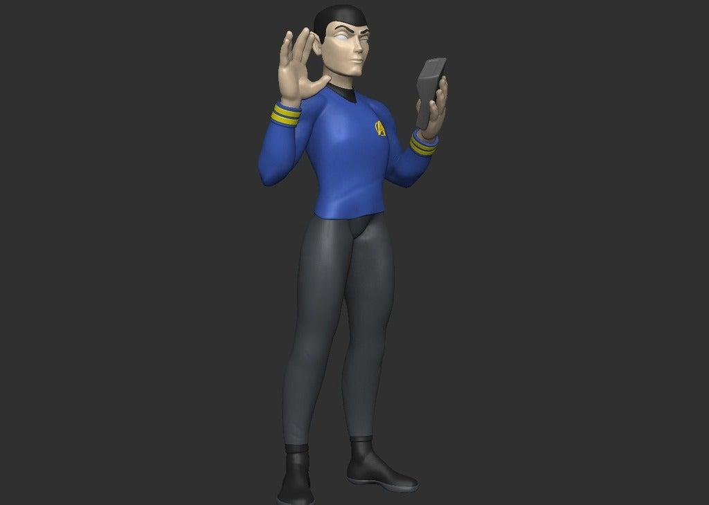 c296c8f50fdf9ac0b3b9bf6391e94899_display_large.jpg Télécharger fichier STL gratuit Spock stylisé - Pose 2 • Plan imprimable en 3D, CarlCreates