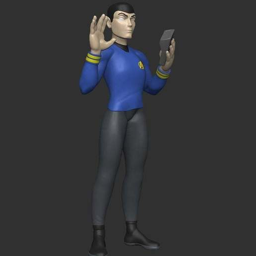 Download free 3D printing templates Stylized Spock - Pose 2, CarlCreates