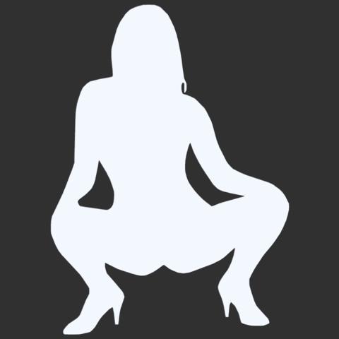 08.png Télécharger fichier STL Pack Silhouette Sexy • Objet imprimable en 3D, CarlCreates