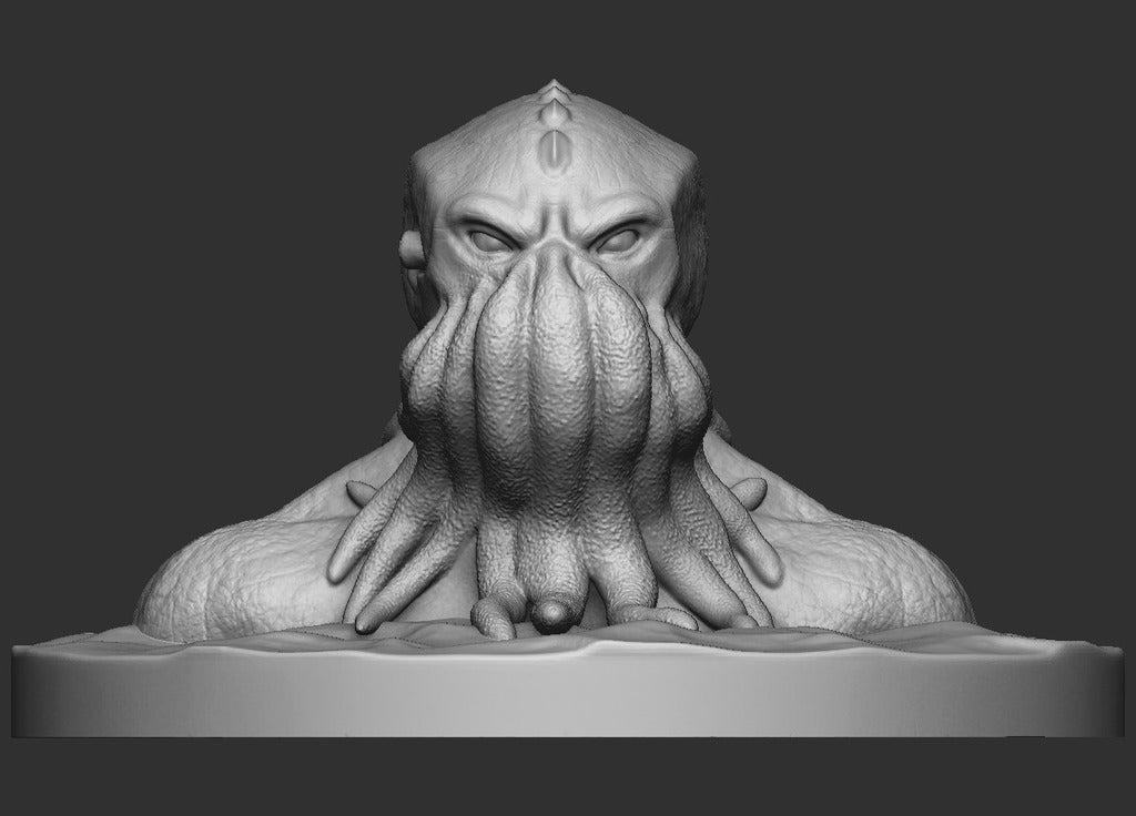 d9b6f4554ead74cebd62effb6a671a52_display_large.jpg Download free OBJ file Cthulhu Bust • Object to 3D print, CarlCreates