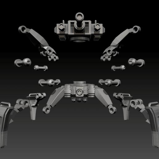 03.png Download free STL file Posable Sci-Fi Tank - MK 01 • Design to 3D print, CarlCreates