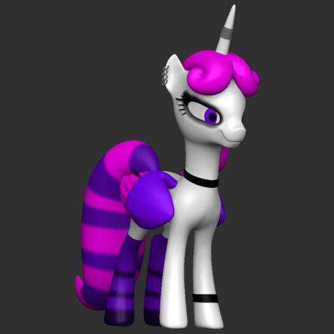01.png Download free OBJ file Punk Pony • 3D printable design, CarlCreates