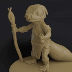 00.png Download STL file Shaman Gecko • 3D printer model, CarlCreates