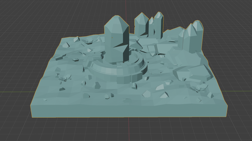 02.png Download free OBJ file Low Poly Crystal Scene • Template to 3D print, CarlCreates