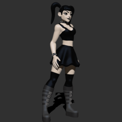 Download free 3D printing files Stylized Goth Girl, CarlCreates