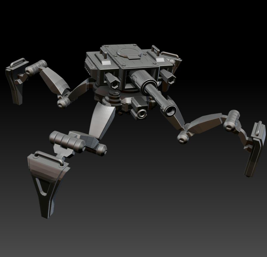 00.png Télécharger fichier STL gratuit Possible Réservoir Sci-Fi - MK 01 • Plan imprimable en 3D, CarlCreates