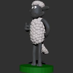 00.png Download OBJ file Shaun the Sheep • 3D printing object, CarlCreates