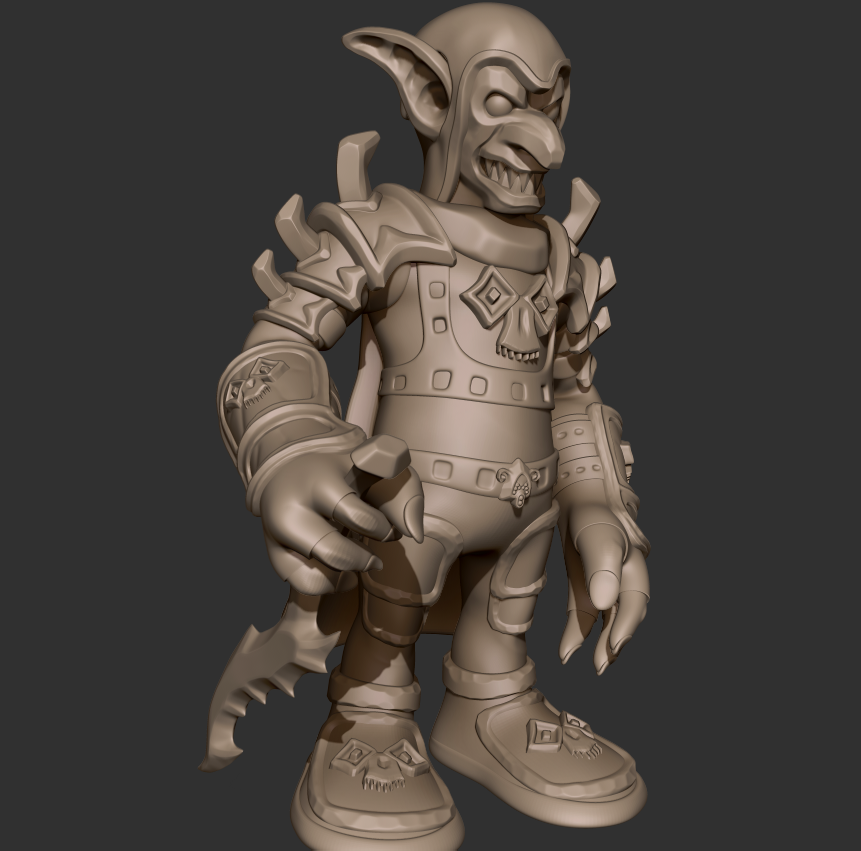01.png Download free STL file Goblin Assassin • 3D printing template, CarlCreates