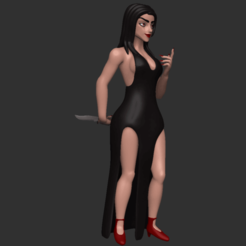 00.png Download free OBJ file The Black widow • Model to 3D print, CarlCreates