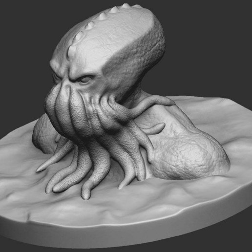 fe07eee1f0268775c646e844b05bff2d_display_large.jpg Download free OBJ file Cthulhu Bust • Object to 3D print, CarlCreates