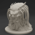 00.png Download free OBJ file Predator Bust • Object to 3D print, CarlCreates