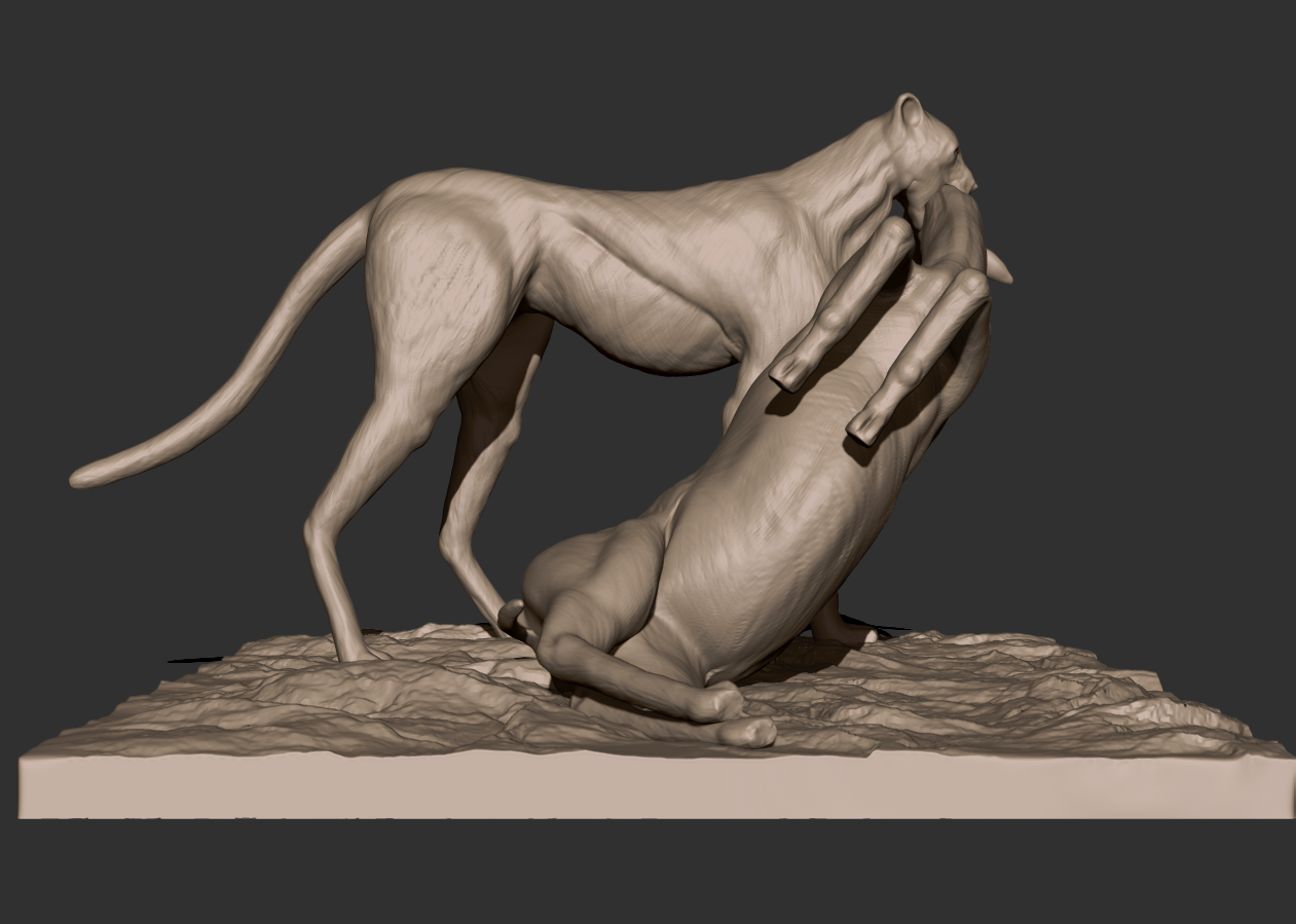 01.png Download free STL file Cheetah and Gazelle scene • 3D printing design, CarlCreates
