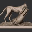 Télécharger fichier STL gratuit Scène guépard et gazelle, CarlCreates