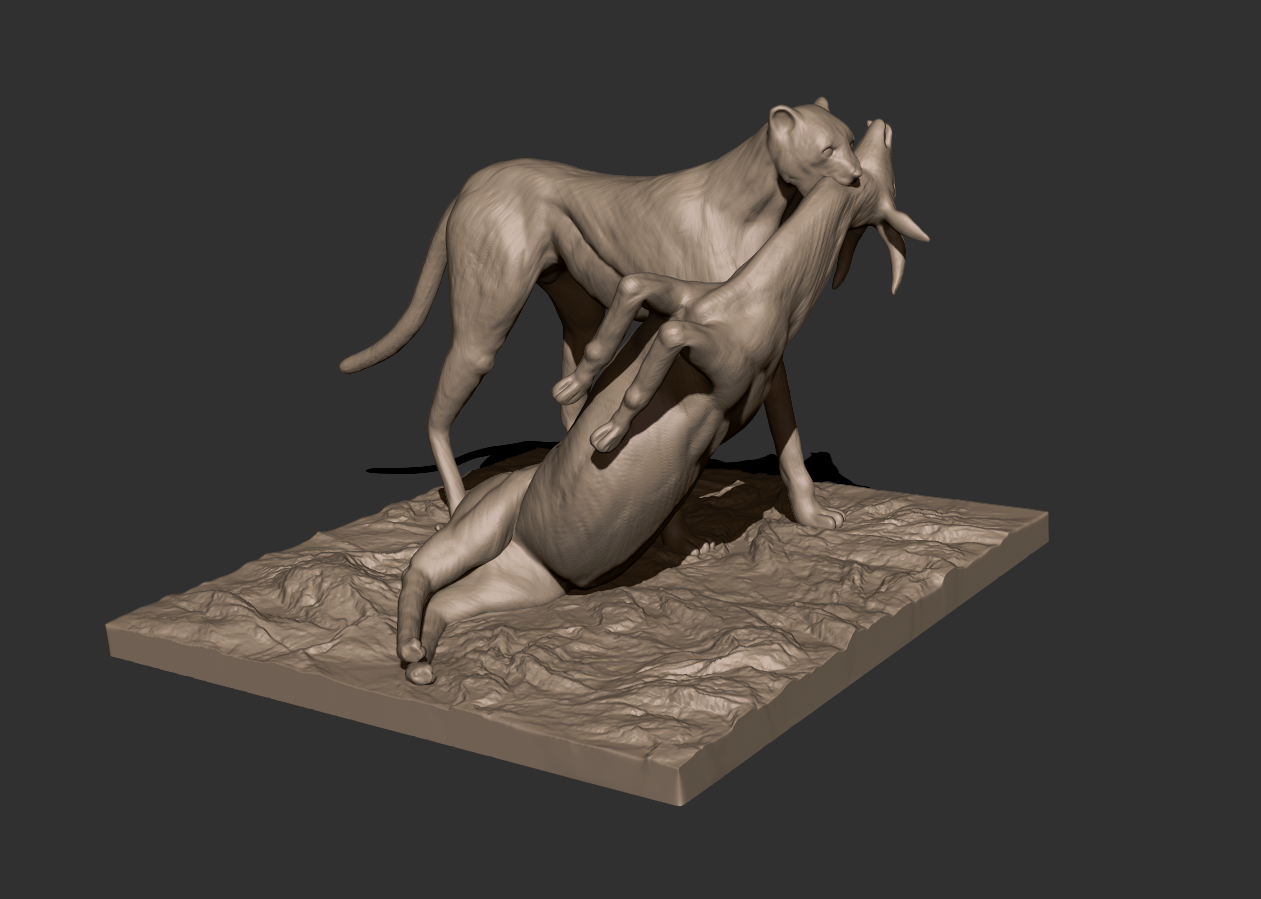 00.png Download free STL file Cheetah and Gazelle scene • 3D printing design, CarlCreates