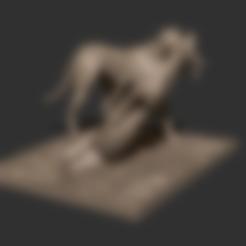 Descargar diseños 3D gratis Escena de guepardo y gacela, CarlCreates