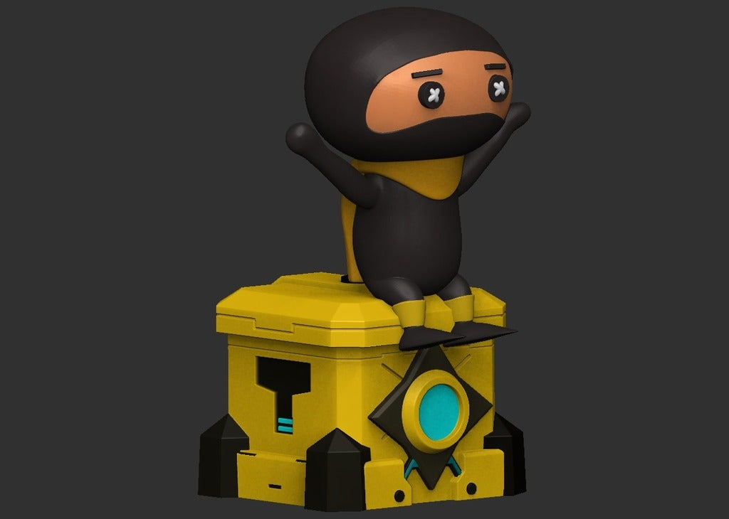 b2f822be9b5ac4833c84b93934f95407_display_large.jpg Télécharger fichier OBJ gratuit DLive Ninja • Design pour impression 3D, CarlCreates