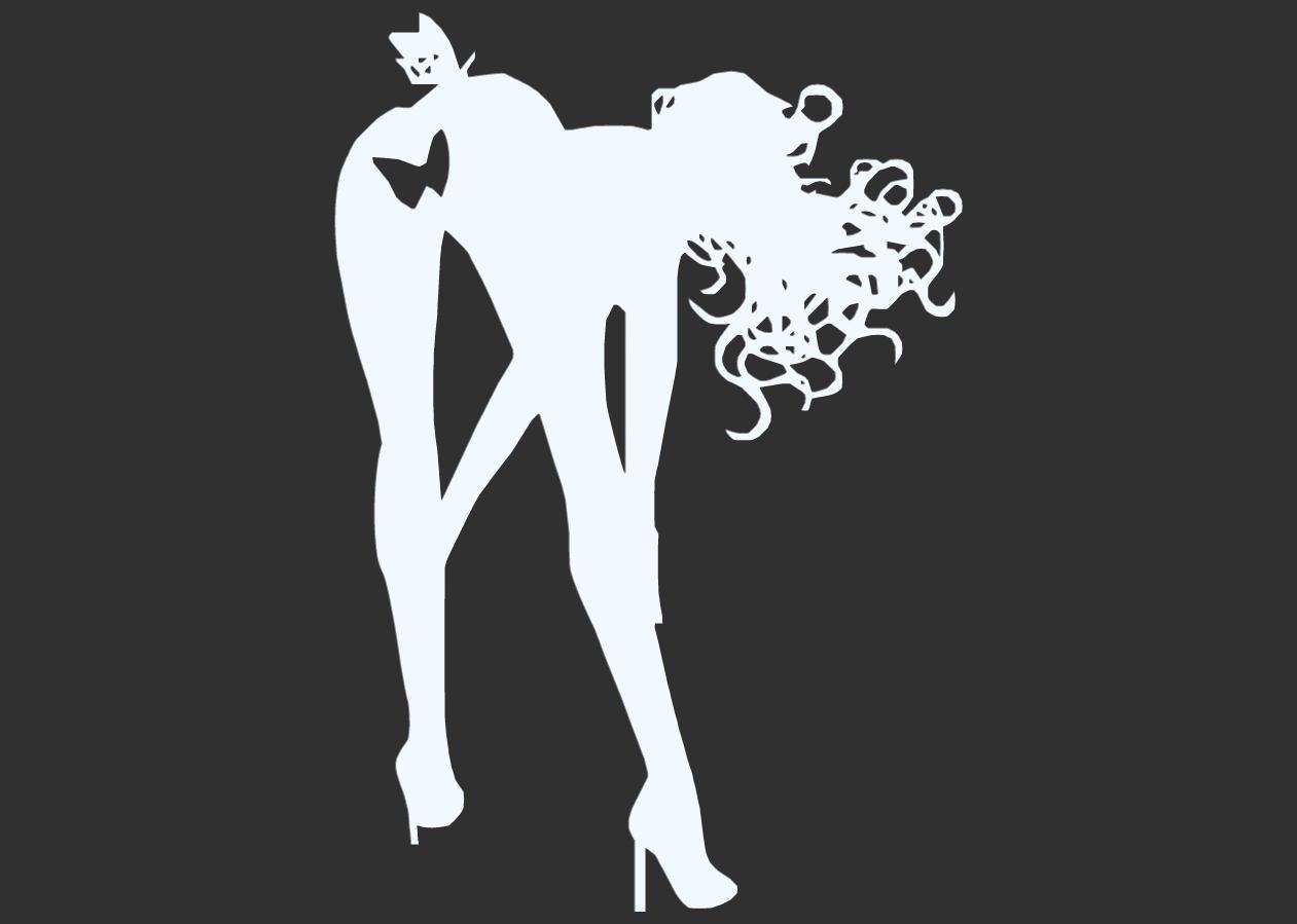 16.png Télécharger fichier STL Pack Silhouette Sexy • Objet imprimable en 3D, CarlCreates