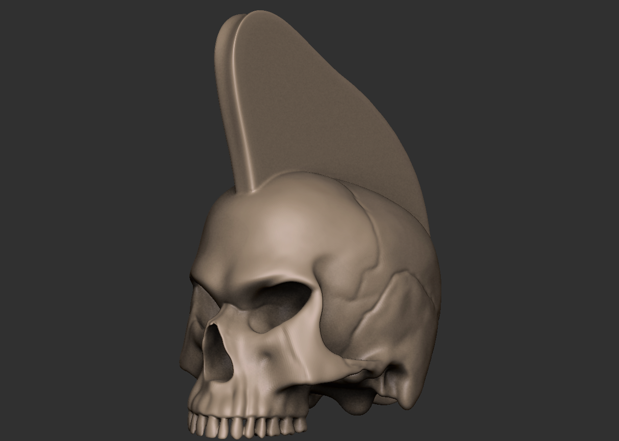 00.png Download free OBJ file Punk skull • 3D printer model, CarlCreates