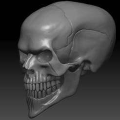 Download free STL files Evil Skull 3D Print Concept, CarlCreates