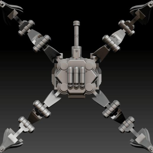 02.png Download free STL file Posable Sci-Fi Tank - MK 01 • Design to 3D print, CarlCreates