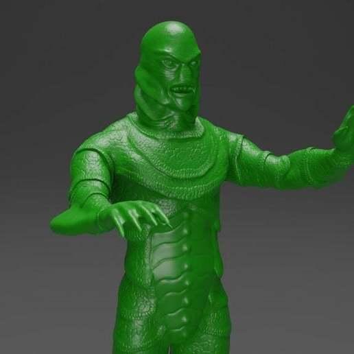 Download free 3D printer templates Black Lagoon Monster - RetroShock!, CarlCreates
