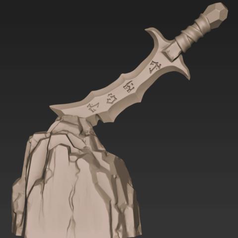 Télécharger fichier impression 3D gratuit Epée stylisée, CarlCreates