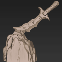 Download free STL Stylized Sword, CarlCreates
