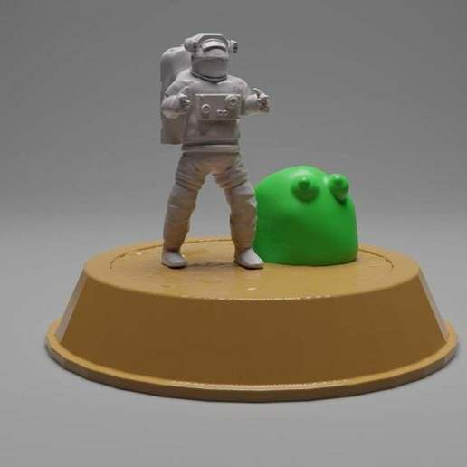 Download free 3D print files Cal and Splurt from Space Team, CarlCreates