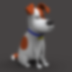max03.stl Download STL file Secret Life of Pets: Max - Fan Art • 3D printer object, CarlCreates
