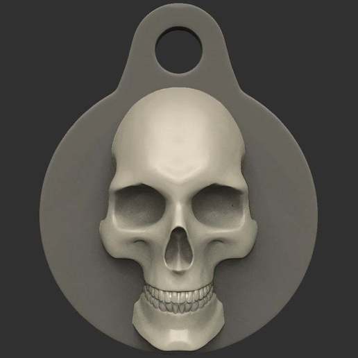 Télécharger fichier 3D gratuit Porte-clés Crâne, CarlCreates