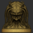 05.png Download free OBJ file Predator Bust • Object to 3D print, CarlCreates