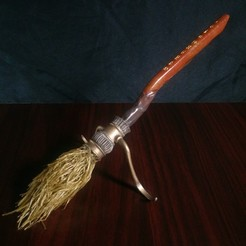 Download 3D printer model Harry Potter - Firebolt Broomstick (Hairy Print), Dame-out-of-Time